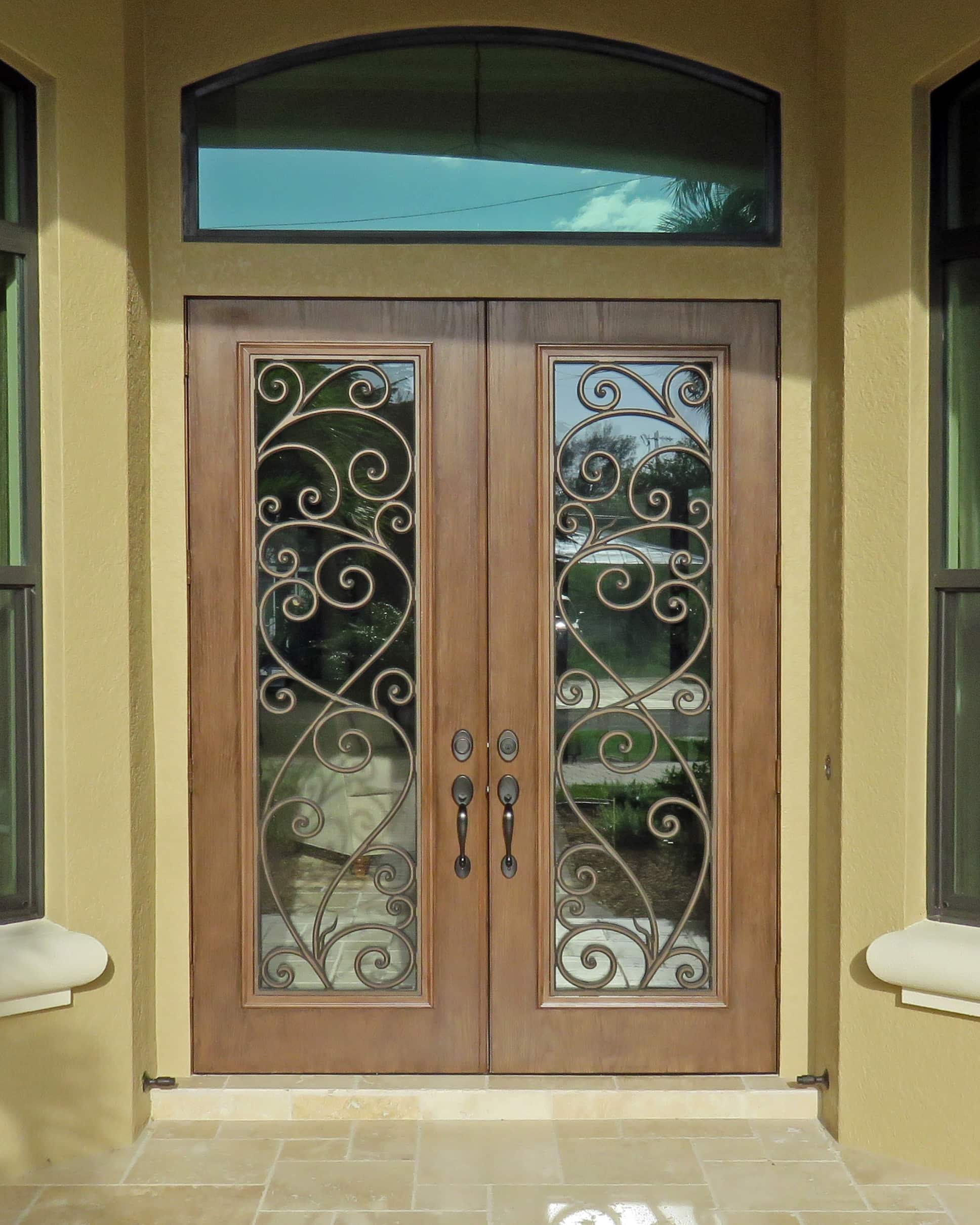 Brown Double Doors